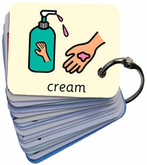 Early Years Grooming 101 Symbol Card Keyring SEN Visual Aid Resource (Autism / AAC / ASD)