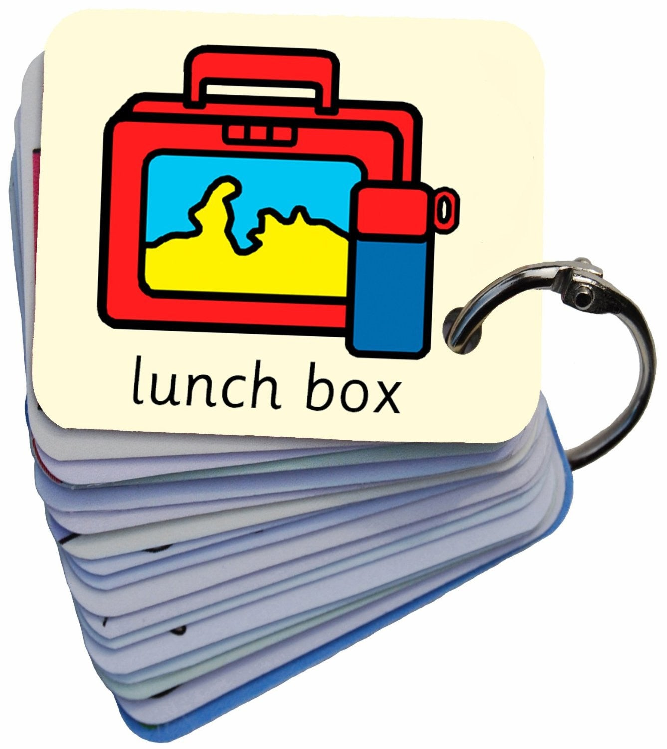Getting Ready For School Symbol Card Keyring SEN Visual Aid Resource (Autism / AAC / ASD)