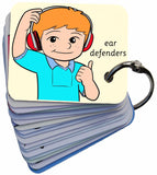 My Hearing Test Autism Symbol Card Keyring Visual Aid Resource (AAC / ASD)