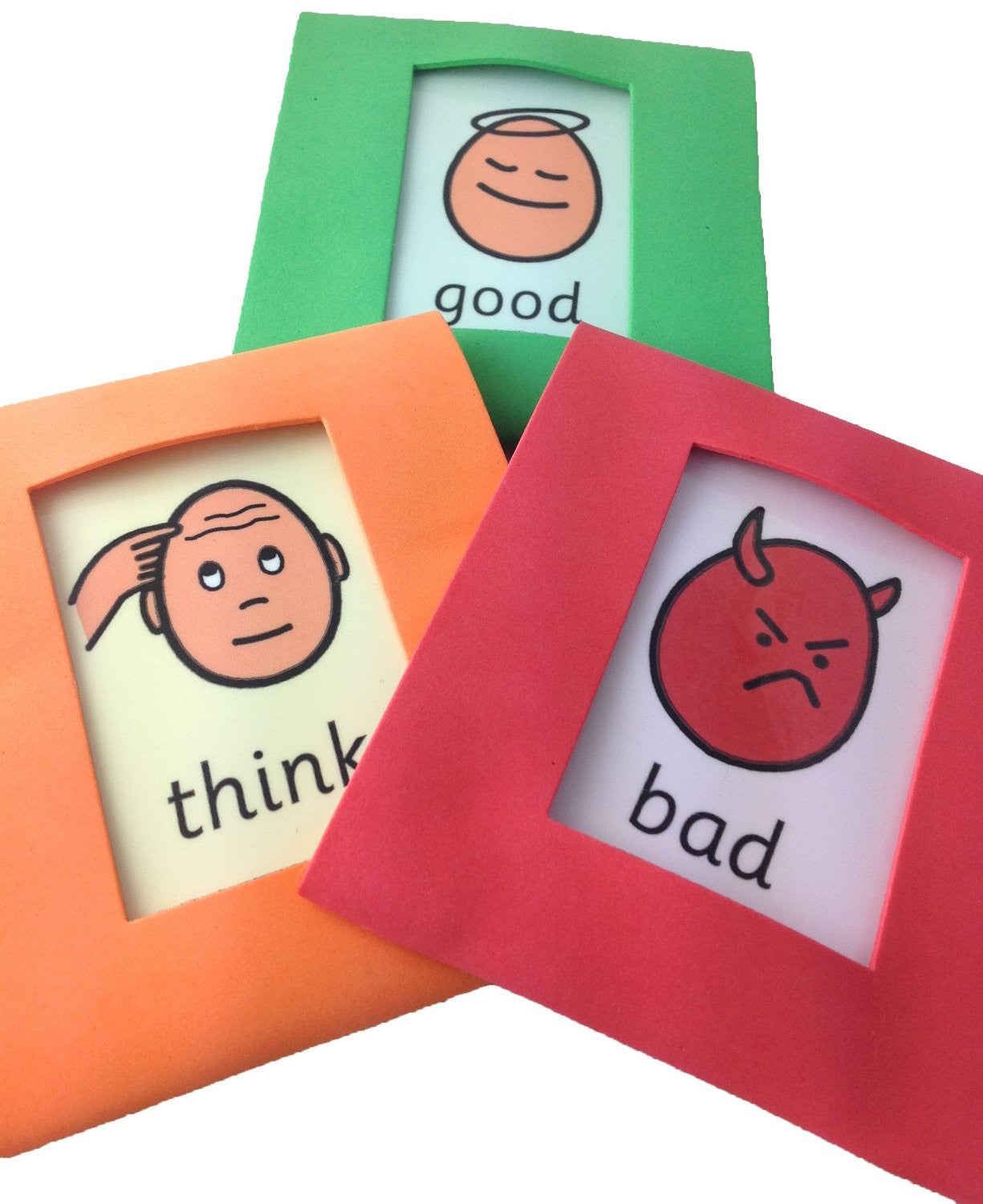 Soft Early Intervention Traffic Light Autism Visual Aid Cards (AAC, ASD)