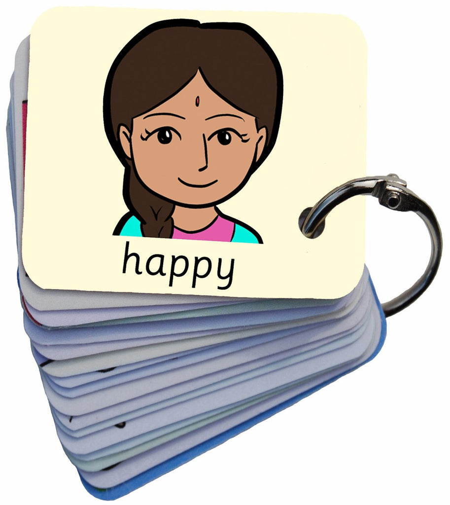 Sophia 101 Feelings & Emotions Autism Symbol Card Keyring Visual Aid Resource (AAC / ASD)