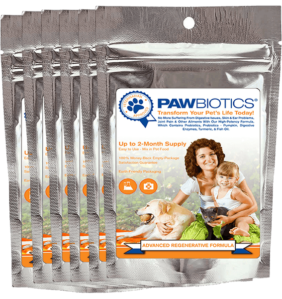 Advanced Regenerative Formula 6 Pack with Probiotics, Prebiotics (Pumpkin), Digestive Enzymes and Turmeric (Only $29.99 per Bag)