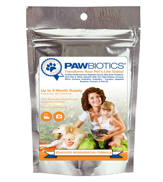 Advanced Regenerative Formula with Probiotics, Prebiotics (Pumpkin), Digestive Enzymes and Turmeric: Immune Stimulation for Health, Happiness and Longevity for YOUR Furry Family Member