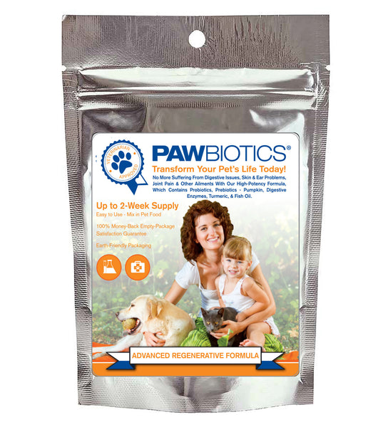 FREE Sample of PawBiotics™ Advanced Regenerative Formula with Probiotics, Prebiotics and Digestive Enzymes ($14.99 handling and shipping)