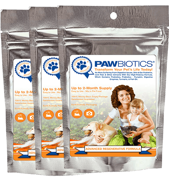 Advanced Regenerative Formula 3 Pack with Probiotics, Prebiotics (Pumpkin), Digestive Enzymes and Turmeric (Only $34.99 per Bag)