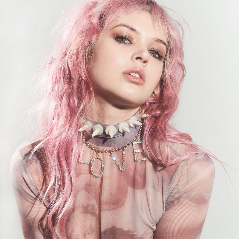 American Deadstock fetish spike choker on clear pvc