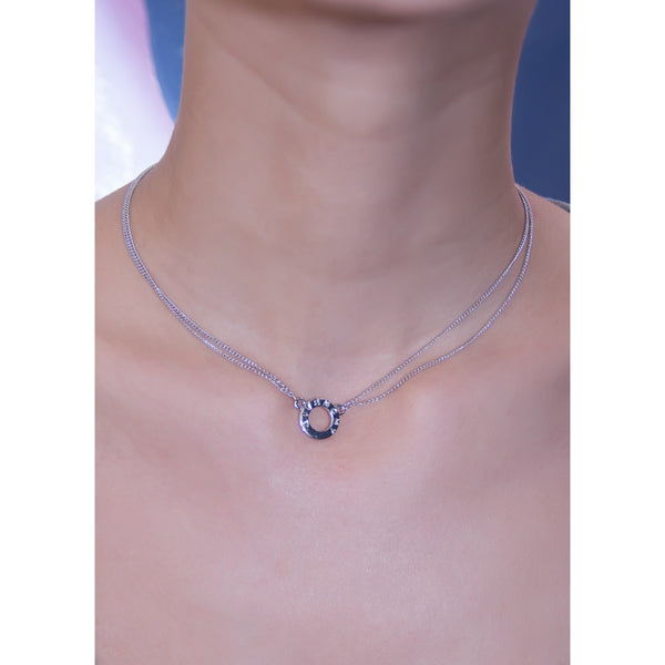 Givenchy Double Date Silver Choker