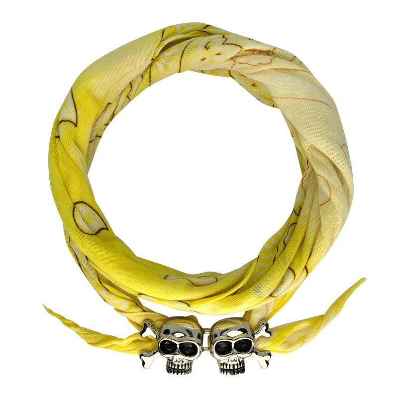 Lemon Drop Tie Dye Skull Bandana