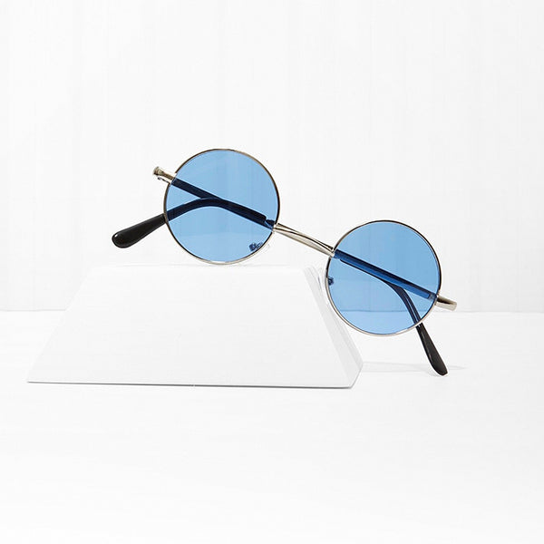 Free Love Round Blue Sunglasses