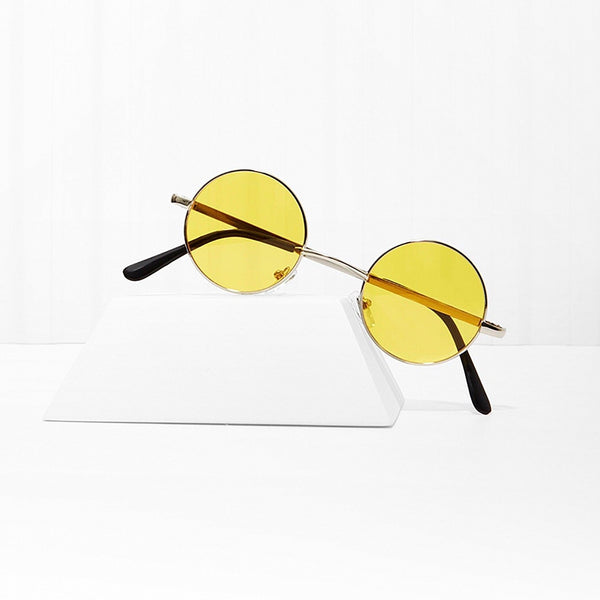 Free Love Round Yellow Sunglasses