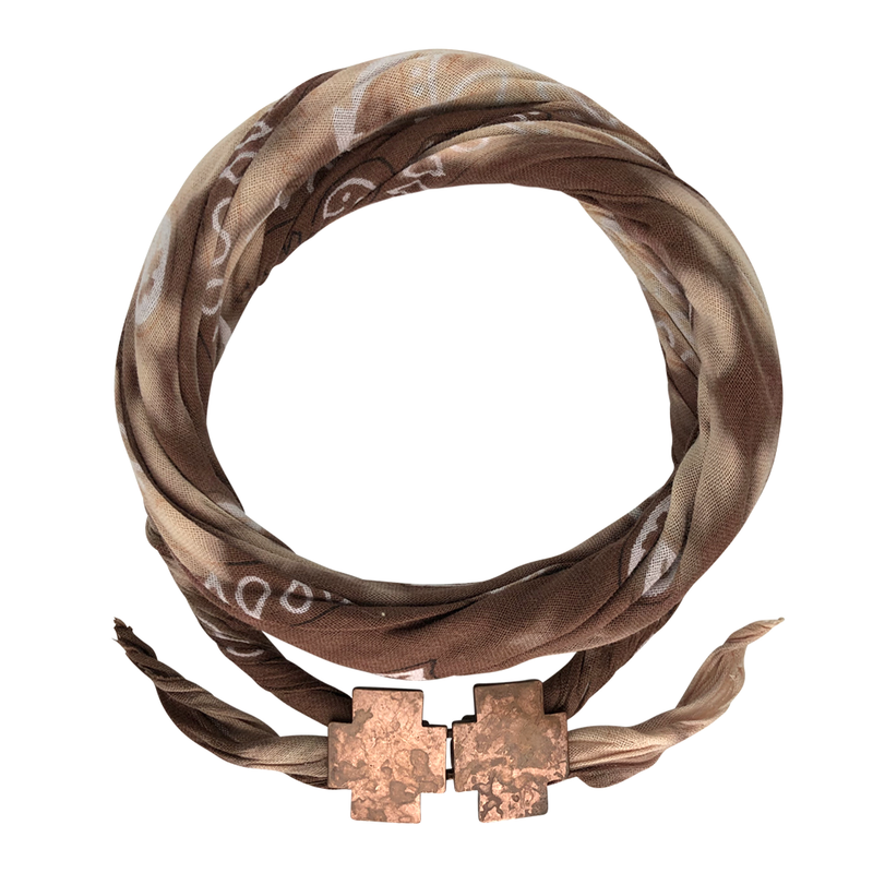 Road Rage Brown Tie Dye Bandana