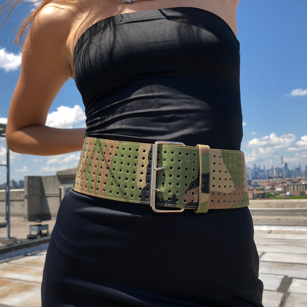 American Deadstock F*ck War Green Camo Belt