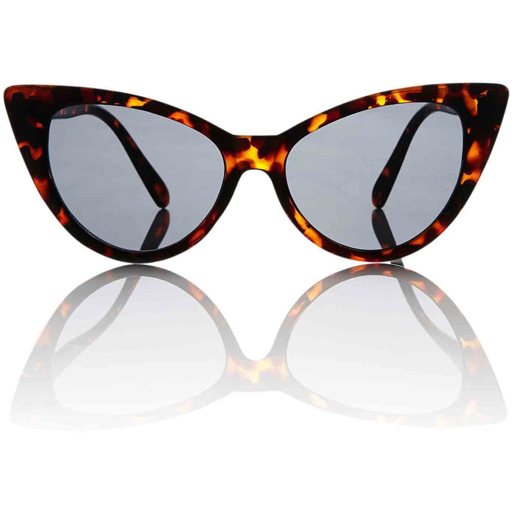 Nicky Tortoise Cat Eye Shades - Smoke