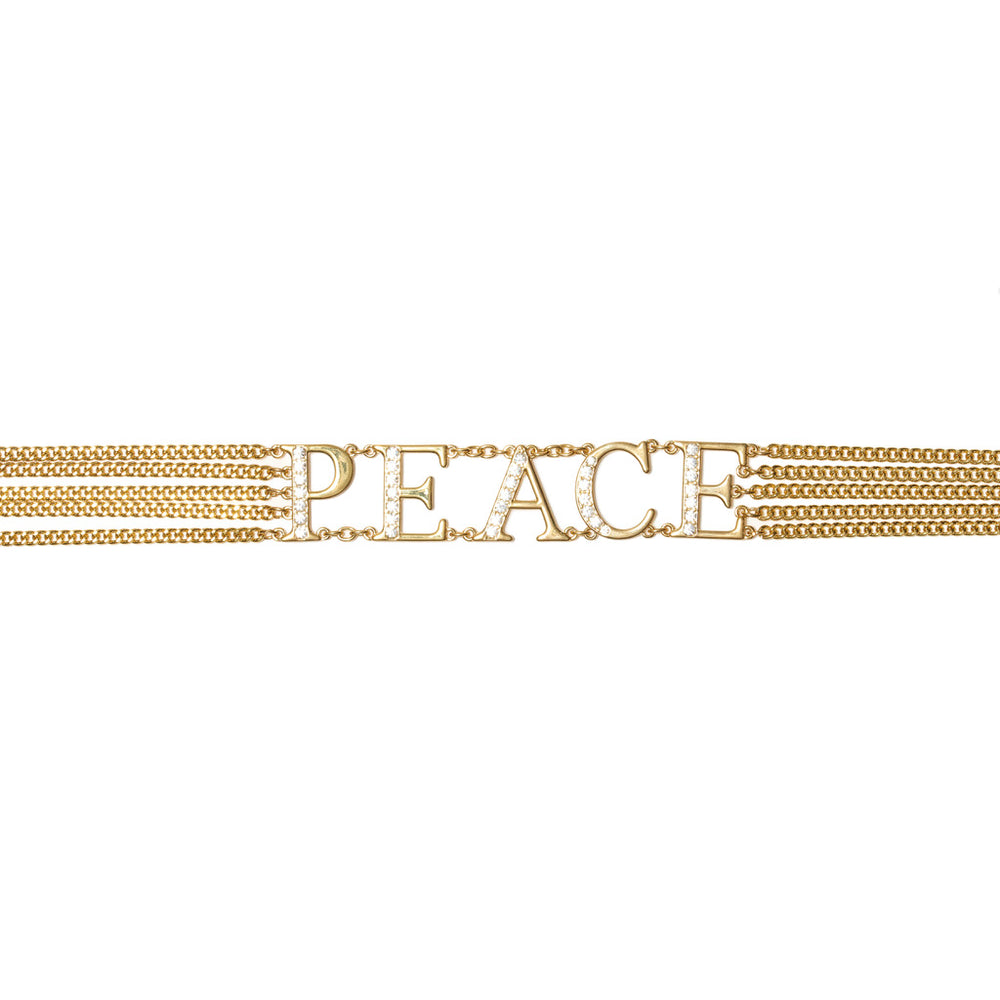 World Peace Chain Belt - Gold