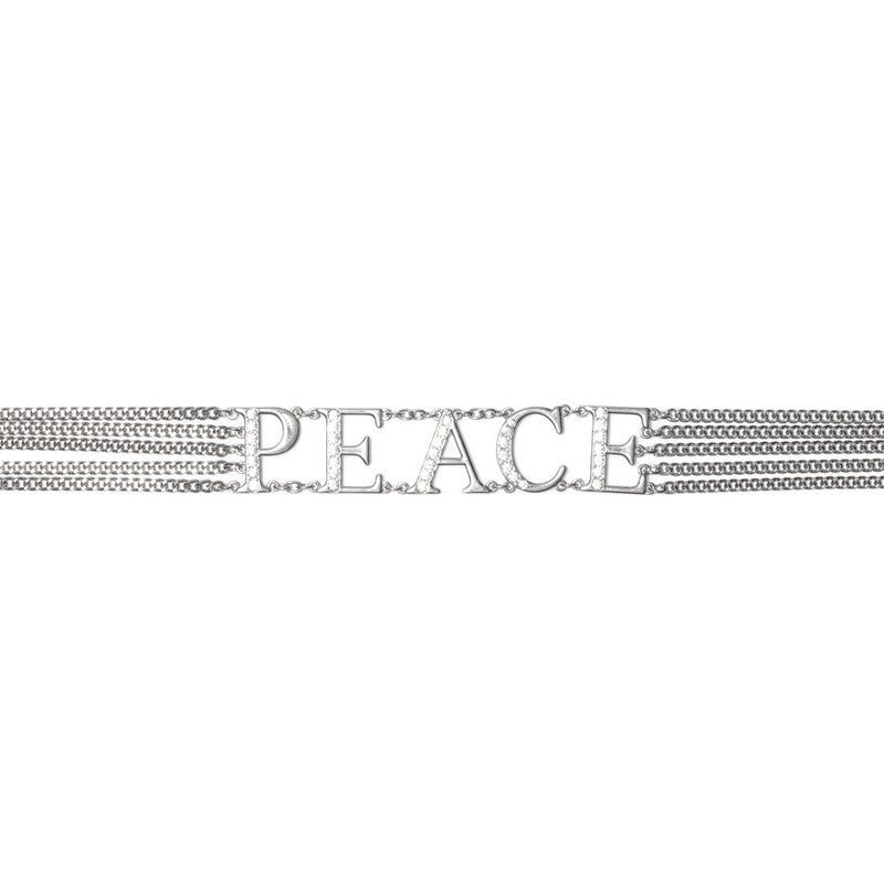 World Peace Chain Belt - Silver