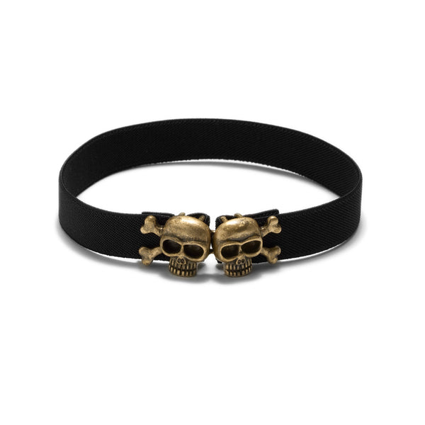American Deadstock Skully Choker - Brass