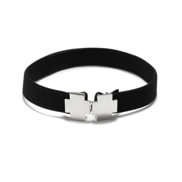 American Deadstock Double Cross Choker - Silver