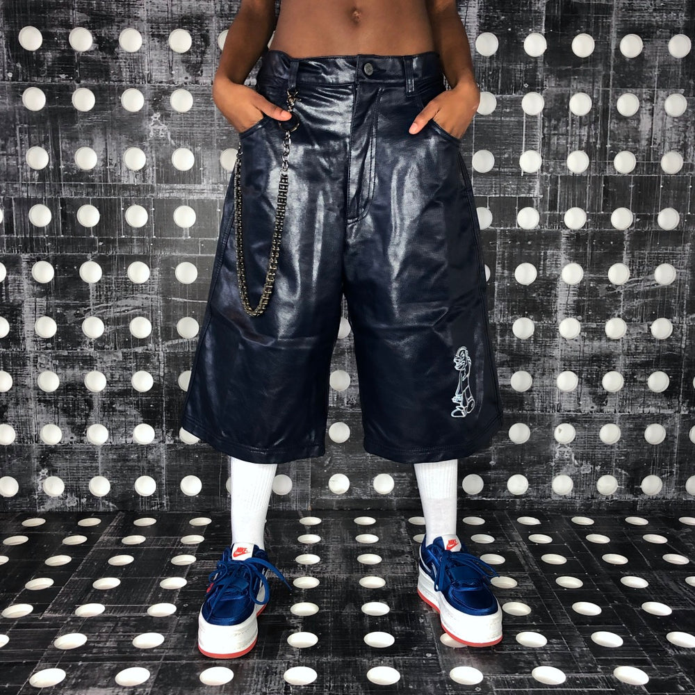 Hype Vinyl Short - Navy