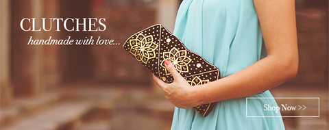 Online handcrafted clutch bags for women