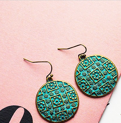 Blue Antique Copper/Bronze Earrings