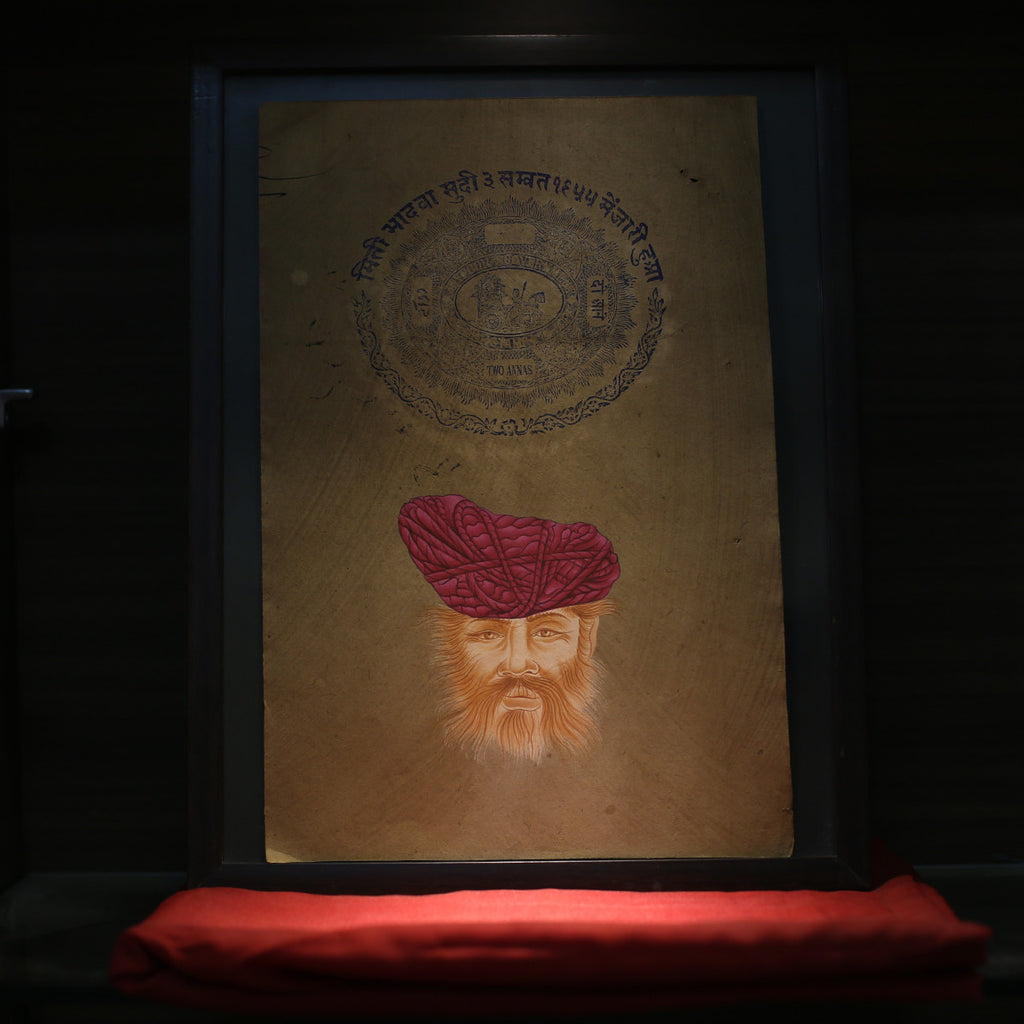 Rajasthani (Badmeri) turban on stamp paper