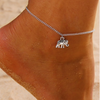 Silver Anklet with Elephant Charm