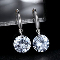 Crystal Small Stone Dangler Earrings