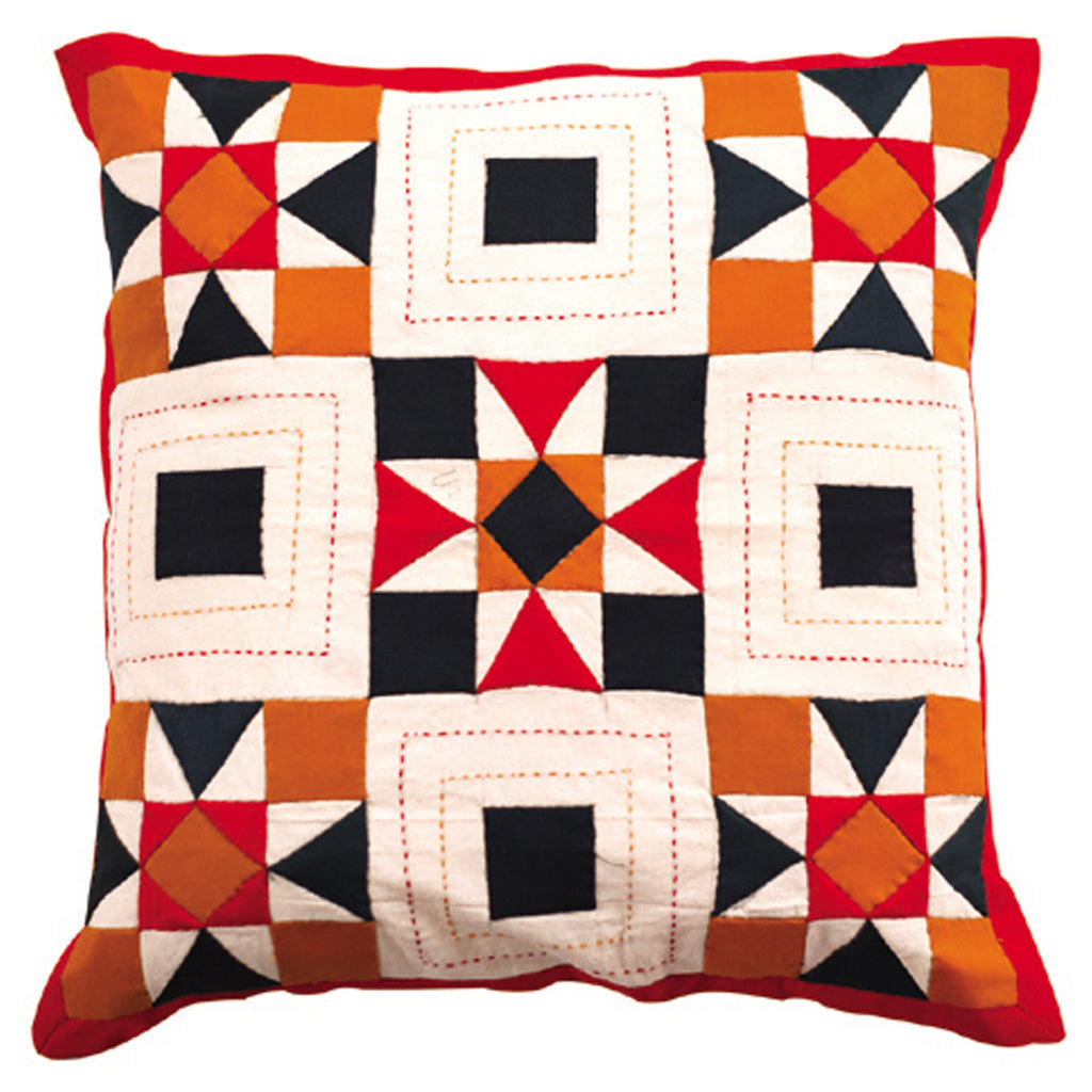Dhaani Inlay Check Cushion Cover (Set of 2)