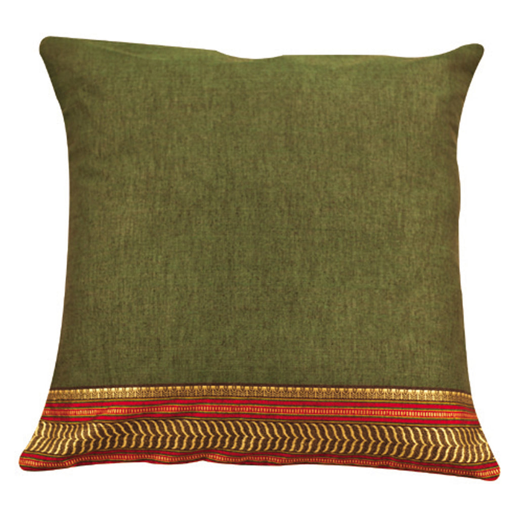 Dhaani Green Emerald Cushion Cover (Set of 2)