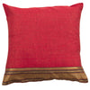 Dhaani Red Zari Cushion Cover (Set of 2)