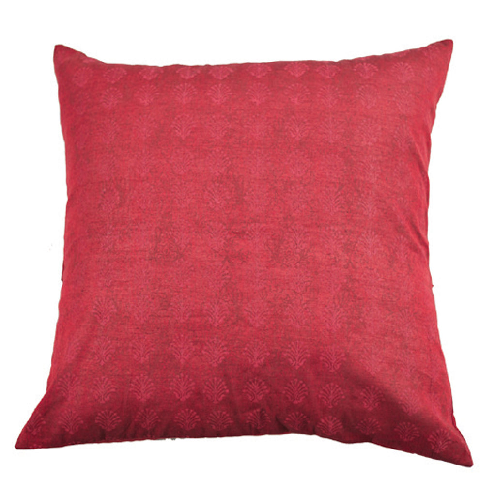 Dhaani Rust Floral Print Cushion Cover (Set of 2)