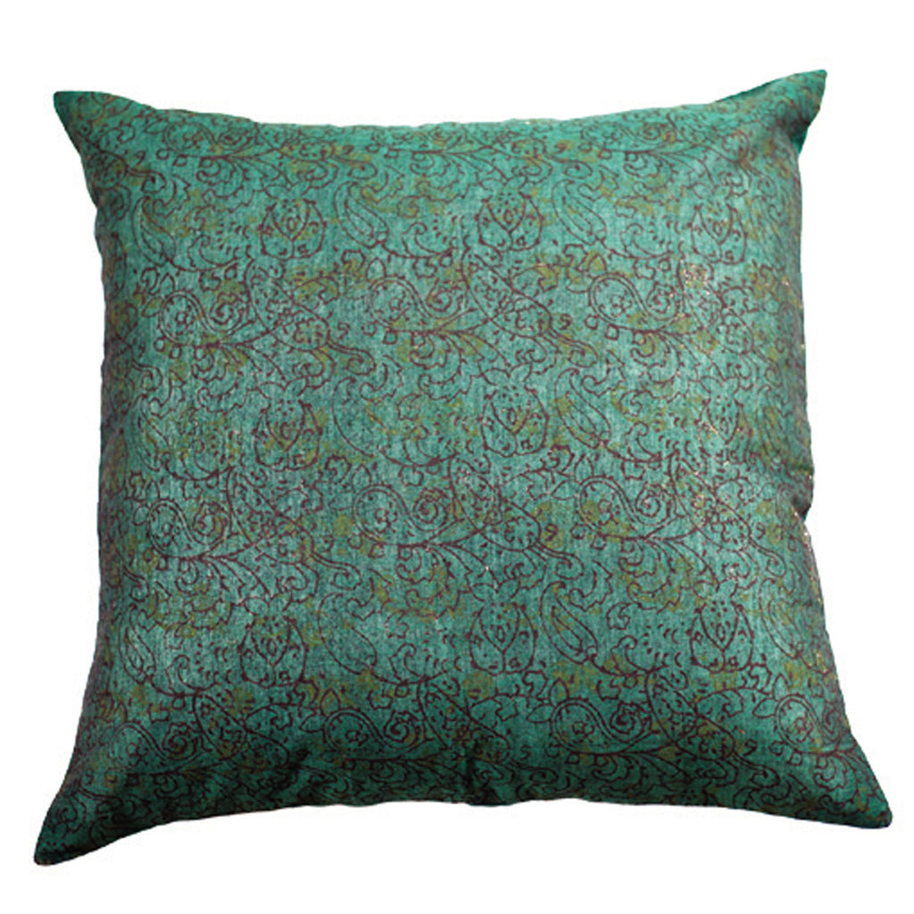 Dhaani Turquoise Floral Cushion Cover (Set of 2)
