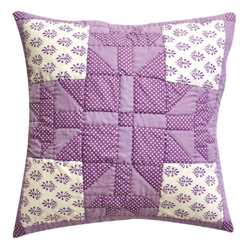 Dhaani Lavender Floral Pattern Cushion Cover (Set of 2)