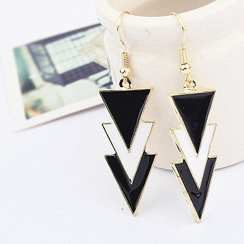 Inverted drop earrings for women