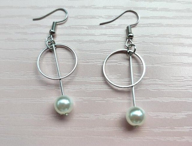 RING WITH DROP PEARL EARRINGS