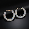 White Crystal Hoop Earrings