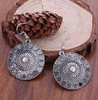 Antique Finish Dangle Drop Earrings