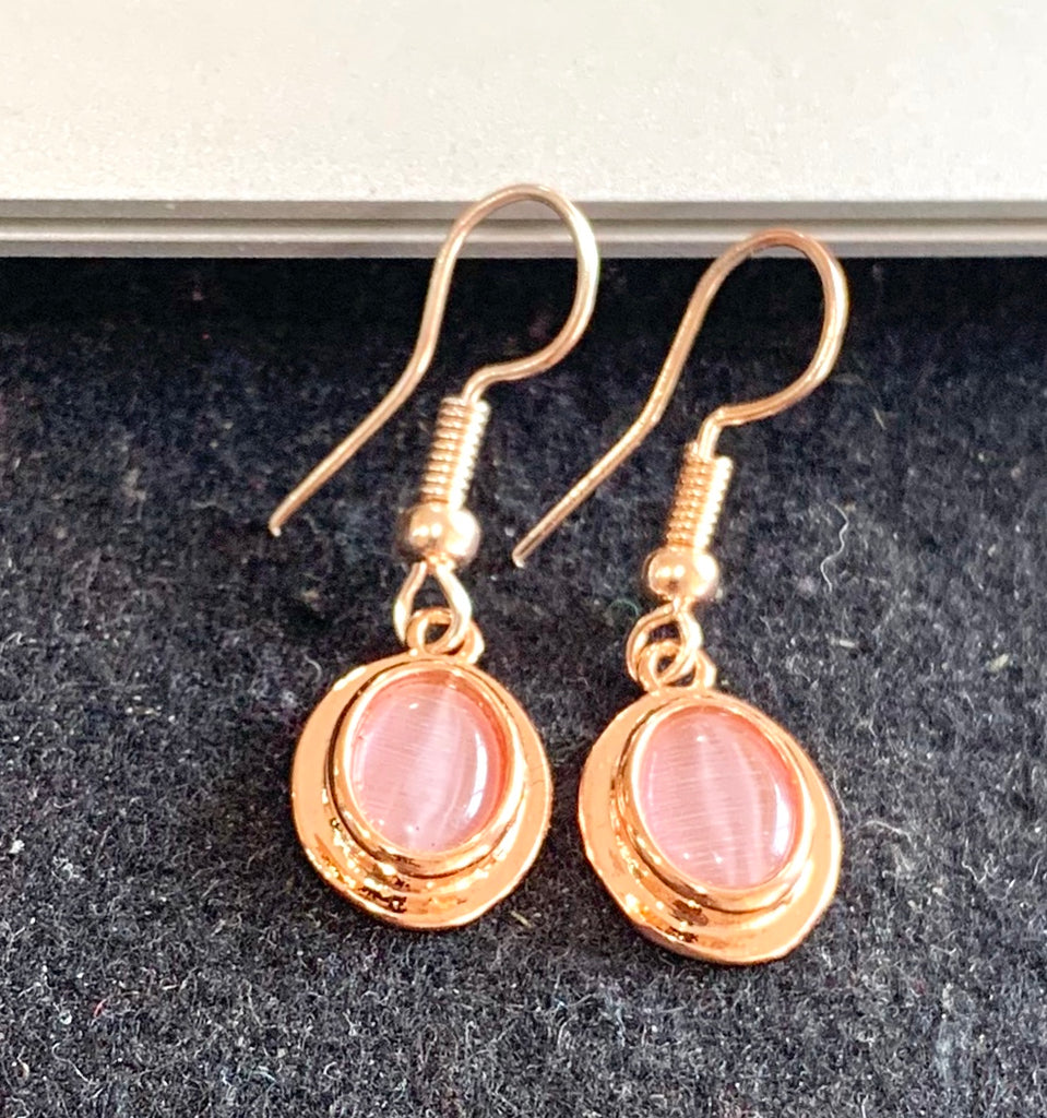 Rose Gold Soft Pink Oval