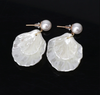 White Mother of Pearl Dangle Earrings
