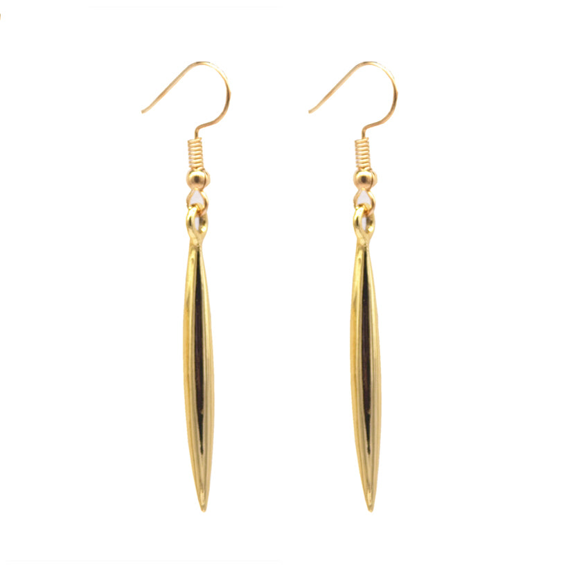 Golden Needle Earrings