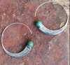 Boho Blue Horn Earrings