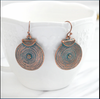 Copper Disc Dangle Earrings