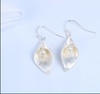 Silver Bud with Pearl Earrings