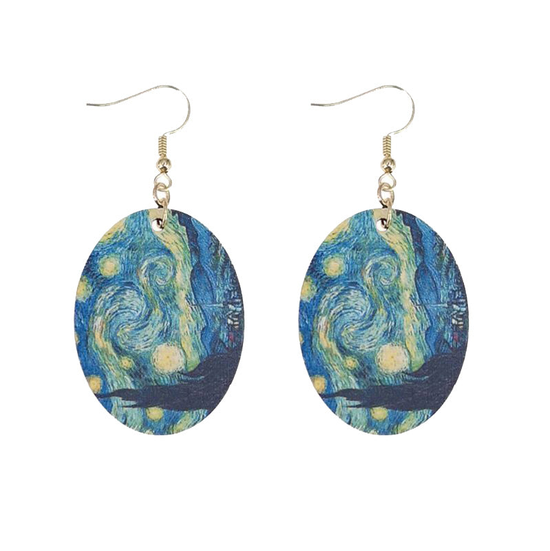 Hand Painted Replica Earrings
