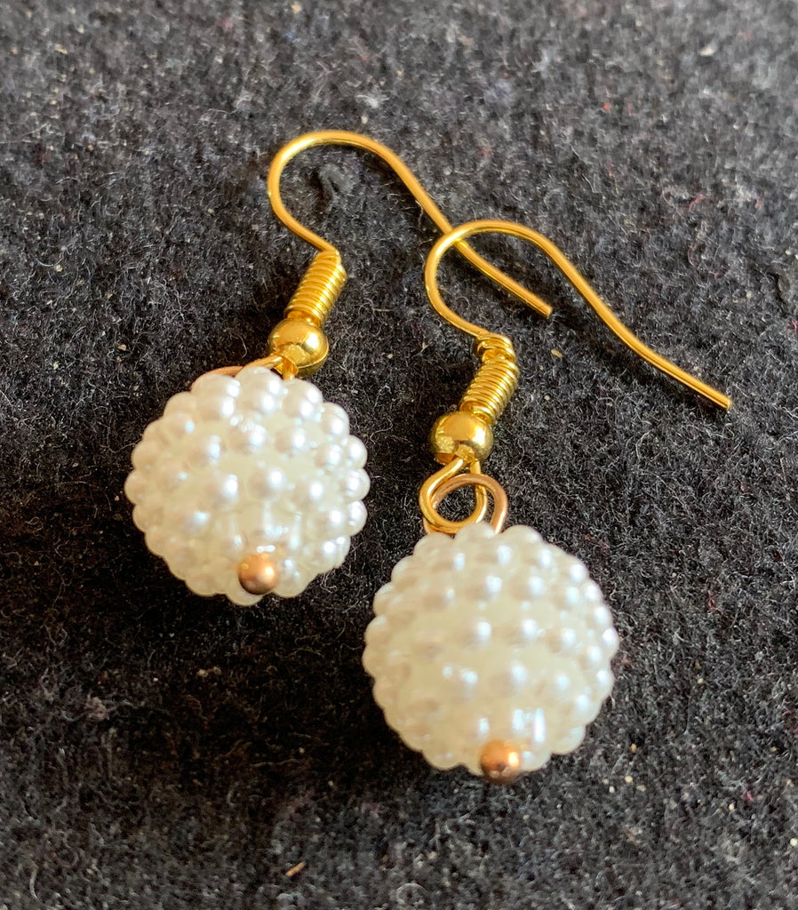 RICE PEARLS DROP EARRINGS