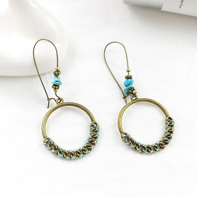 Exaggerated Big Round Braided Silk Earrings