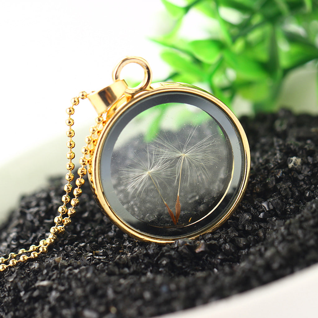 Dandelion in Glass Pendant