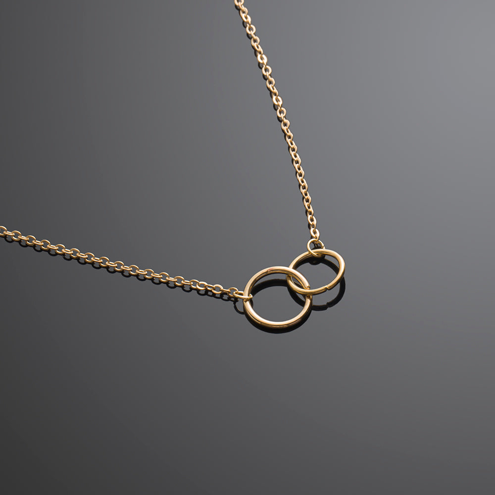 Minimalist Couple Ring Golden Chain Necklace