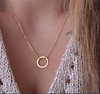 Minimalist 'O' Golden Chain Necklace