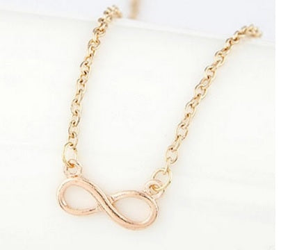 Minimalist Infinity Golden Chain Necklace